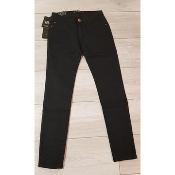 Spodnie jeans czarne r.36 nowe z metką wiązane
