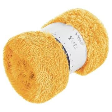 Koc narzuta 200x220 Yeti włochacz żółty futrzak