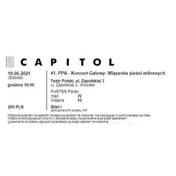 Bilet, 41. PPA Koncert Galowy 19.06.2021, 16:00