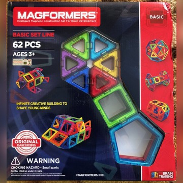 MAGFORMERS klocki magnetyczne - 62 elementy