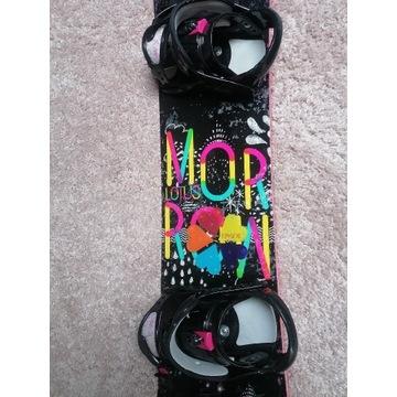 Deska snowboardowa Morrow 145 cm plus wiązania