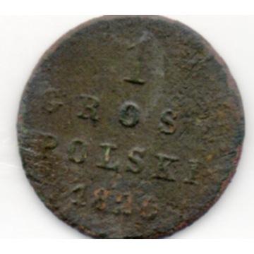 KRÓLESTWO POLSKIE 1 GROSZ POLSKI 1820