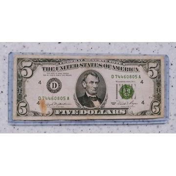 5  Dolarów USA 1981r D