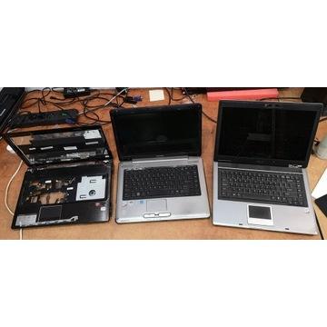 Zestaw 11 laptopów na części