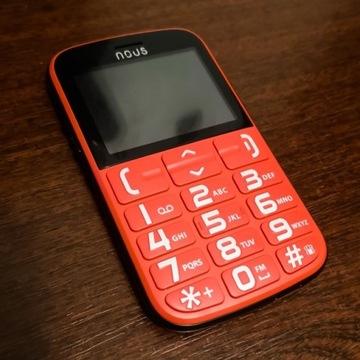 Telefon dla seniora DUŻE PRZYCISKI czerwony