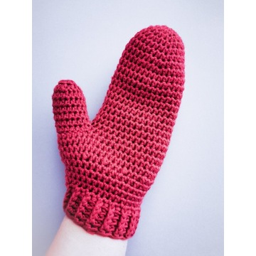 Wełniane rękawiczki 100% merynos handmade kolory