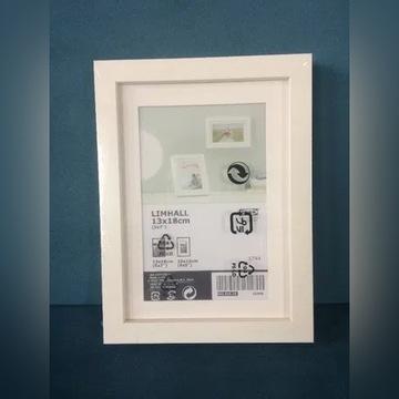 Ramka na zdjęcia biała IKEA 13/18 cm