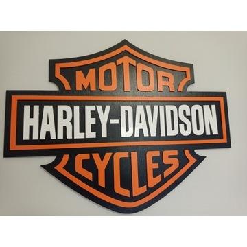 Herb logo Harley Davidson /drewno /prezent