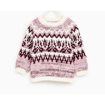 Sweterek Zara 80 9/12 miesięcy