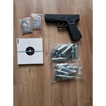 Wiatrówka Pistolet Glock 17 Blow Back 4,5mm