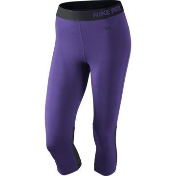 Legginsy Nike Pro fioletowe