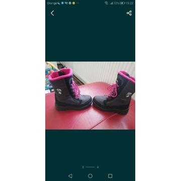 Buty śniegowce dla dziewczynki nowe okazja r 31