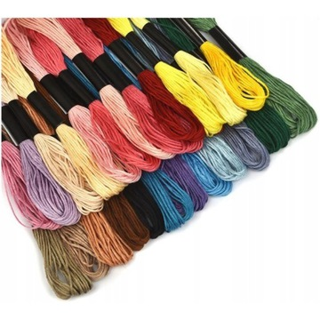 Mulina bawełniana do haftu zestaw 250 sztuk mix
