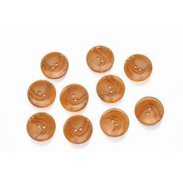 Guziki pomarańcz, 28mm, 10szt