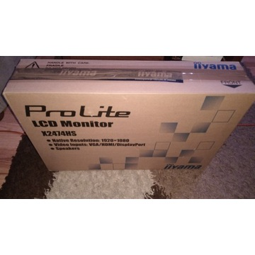 Monitor IIYAMA X2474HS-B1 na gwarancji, idealny.