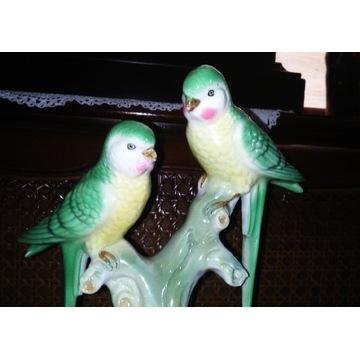 Figurka papużki nierozłączki Gerold- Tettau