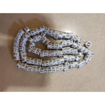 Obrączki dla gołębi rasowych fi 7 mm plastikowe