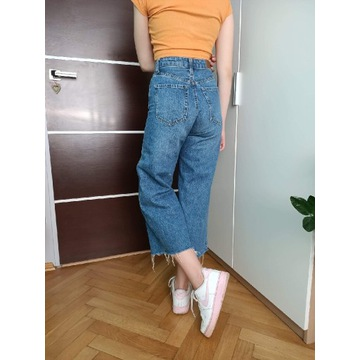 Spodnie stradivarius szerokie nogawki