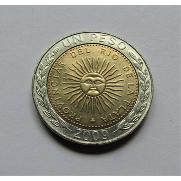 1 peso 2009D, Argentyna