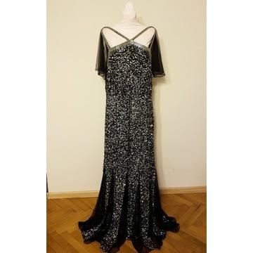 Suknia calowa ASOS 52 54 cekinowa