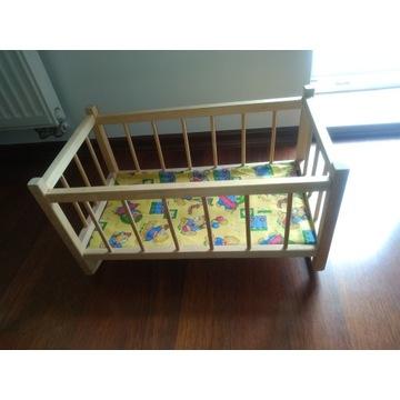 zabawka łóżeczko dla lalki drewniane 48x27x26 cm