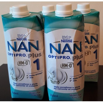 NESTLE NAN OPTIPRO PLUS 1, 500 ml plus gratis