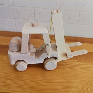 Drewniany pojazd - wózek widłowy