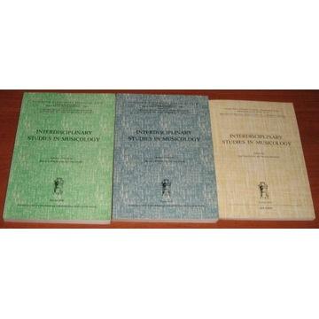 INTERDISCIPLINARY STUDIES IN MUSICOLOGY, vol.. 1-3
