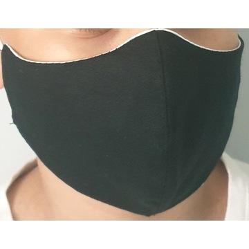 Maska  maseczka ochronna czarna bawełna
