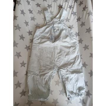 Używane spodnie na szelkach, 6 miesięcy; stan bdb