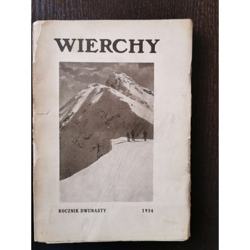 Wierchy ROCZNIK DWUNASTY 1934