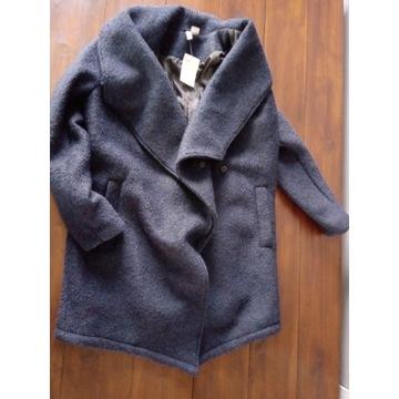Płaszcz wełniany H&M nowy z metką 42, ciepły
