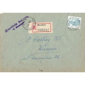Myszków - Koperty listów poleconych 1960-80