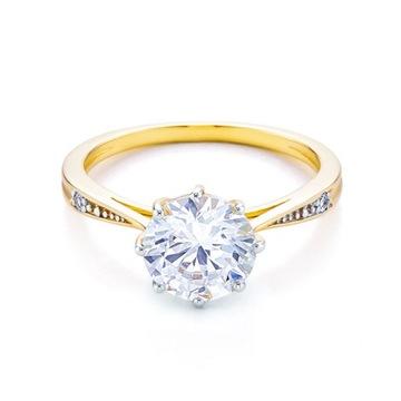 Pierścionek zaręczynowy *SAVICKI* C-16002-PI