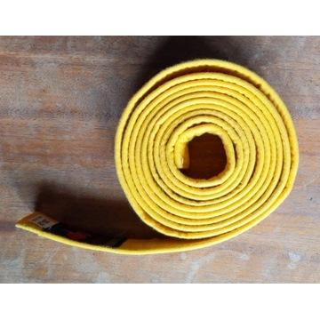 Pas do kimona żółty 280cm