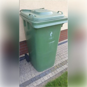 Pojemnik na odpady zielony kosz śmietnik 240L