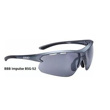 Okulary sportowe BBB BSG-52 IMPULSE Nowe 3 x szkła