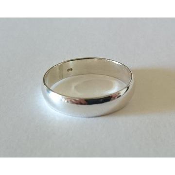 Gładka srebrna obrączka