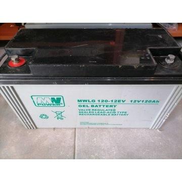 Bezobsługowy akumulator żelowy MW Power serii MWLG
