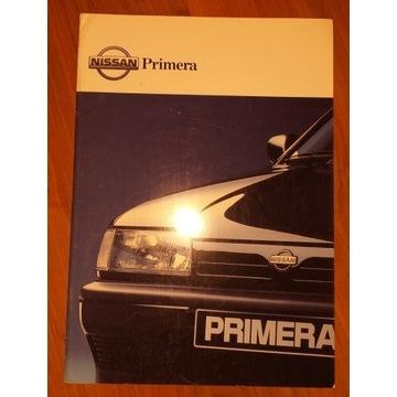 Prospekt samochodowy 44 str NISSAN Primera lata 90