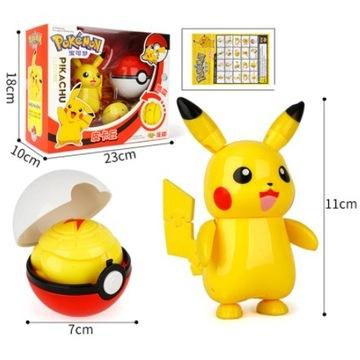 Zestaw Pokemon: Figurka Pikachu + Pokeball!