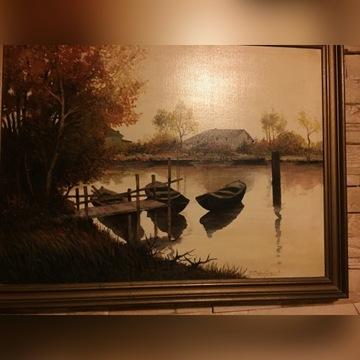 Obraz malowany olejno na płótnie