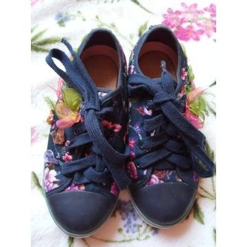 Geox trampki buty kwiatki skórzana wkładka 29