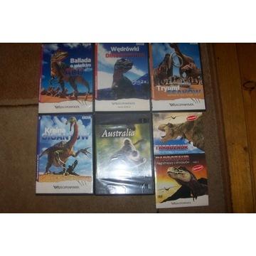 Zestaw filmów o dinozaurach DVD