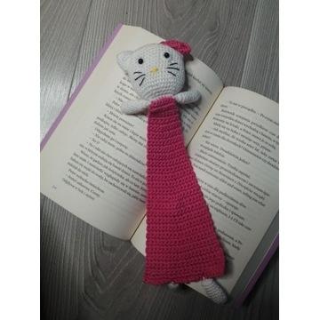 Kotek a la Hello Kitty - zakładka do książki