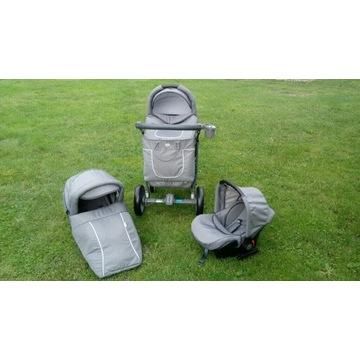 Wózek 3w1 baby merc spacerówka gondola nosidełko