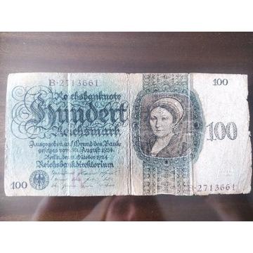 Banknot Niemcy 100 Reichsmark 1924r.