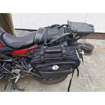 Stelaż Tracer MT09 oraz boczne sakwy Moto Detail