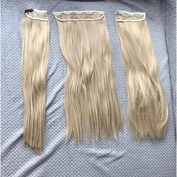 włosy syntetyczne doczepiane Clip On Okazja