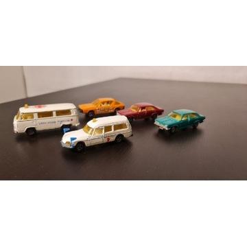 Zestaw samochodzików Majorette 5 sztuk zabawki PRL